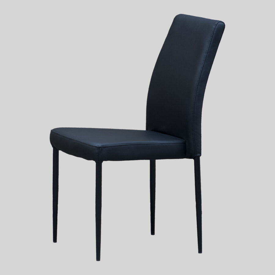 Adelaide Function Chair - Black with Black Legs