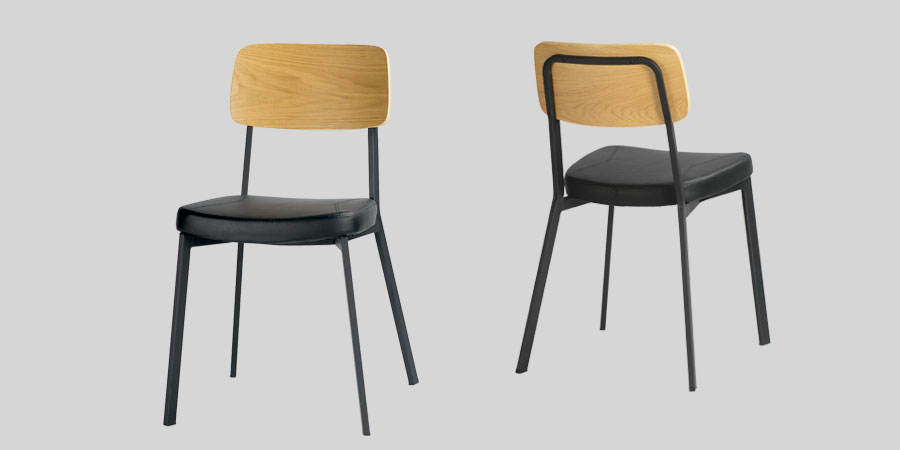Caprice Dining Chairs - Natural / Black