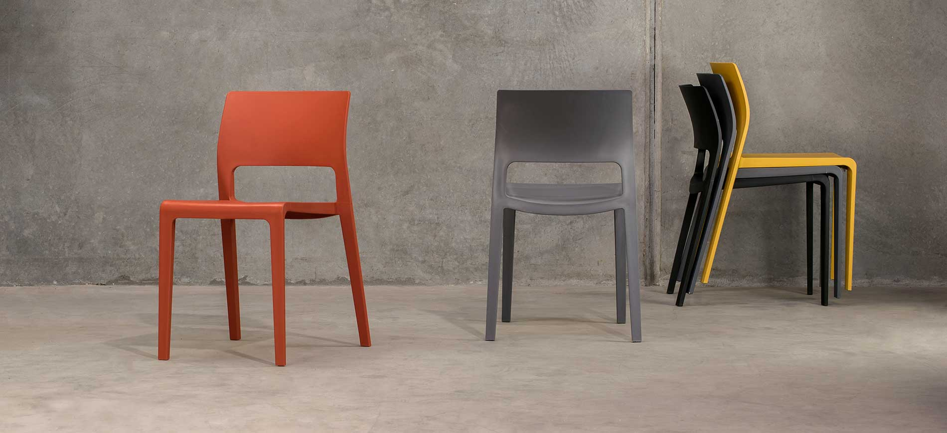 Sorrento Chairs - Mustard & Anthracite