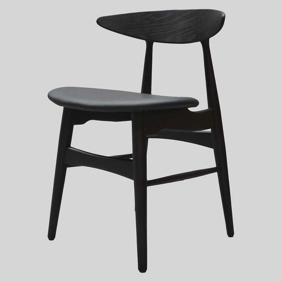 Alexa timber chair - Black