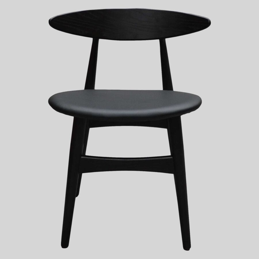 Alexa timber chair - Black