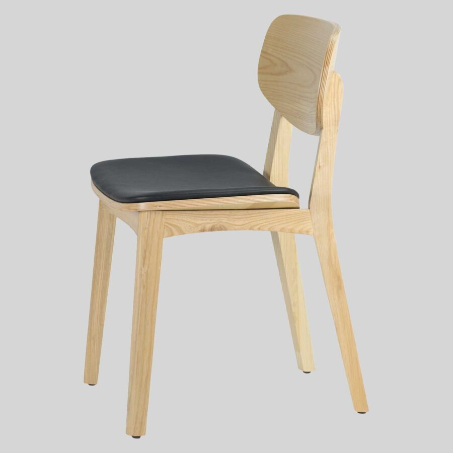 Asahi Dining Chair - Natural with Black Pad