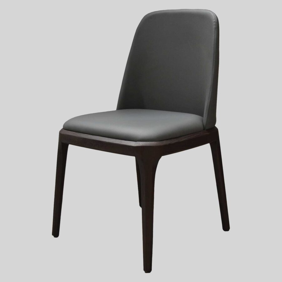 Ashton Side Chair Restaurant Furniture - Charcoal/Dark Walnut