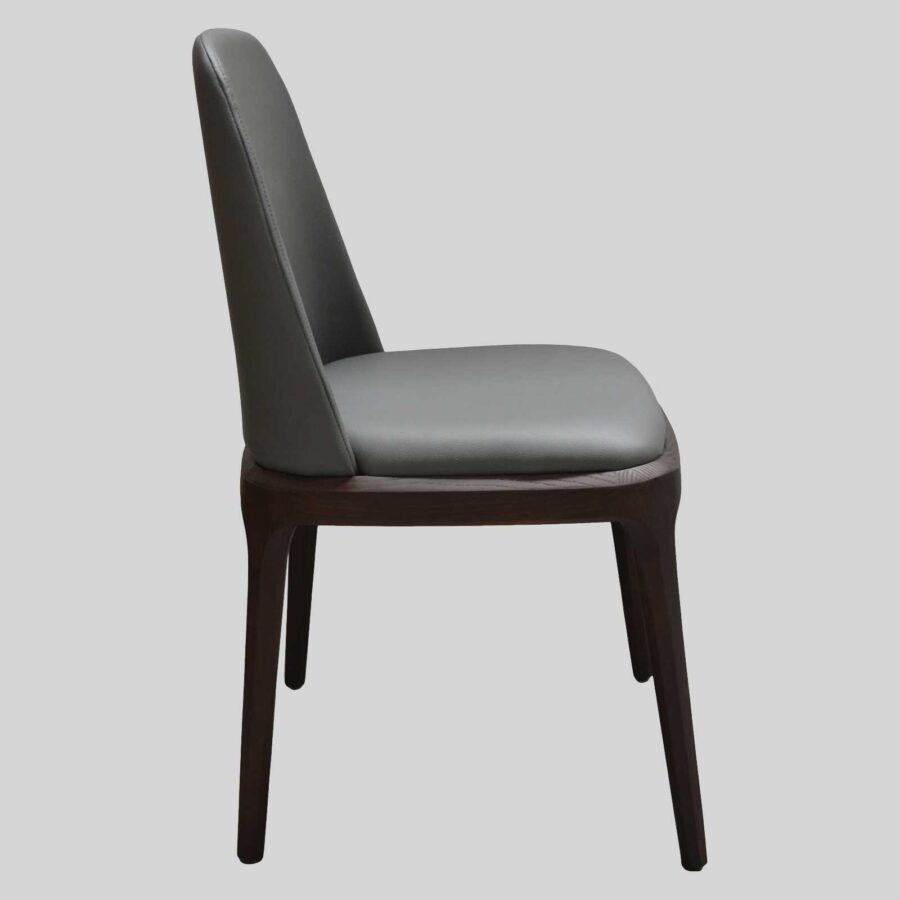 Ashton Side Chair Restaurant Furniture - Side - Charcoal/Dark Walnut