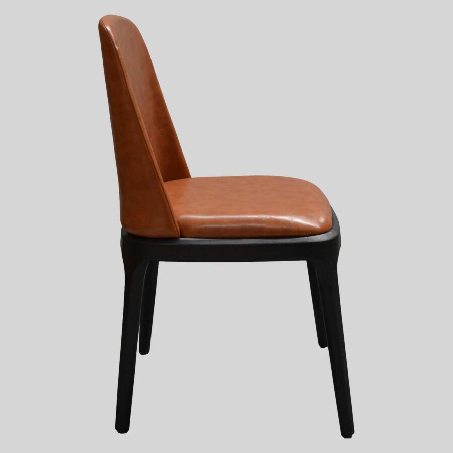 Ashton Side Chair Restaurant Furniture - Side - Tan/Black