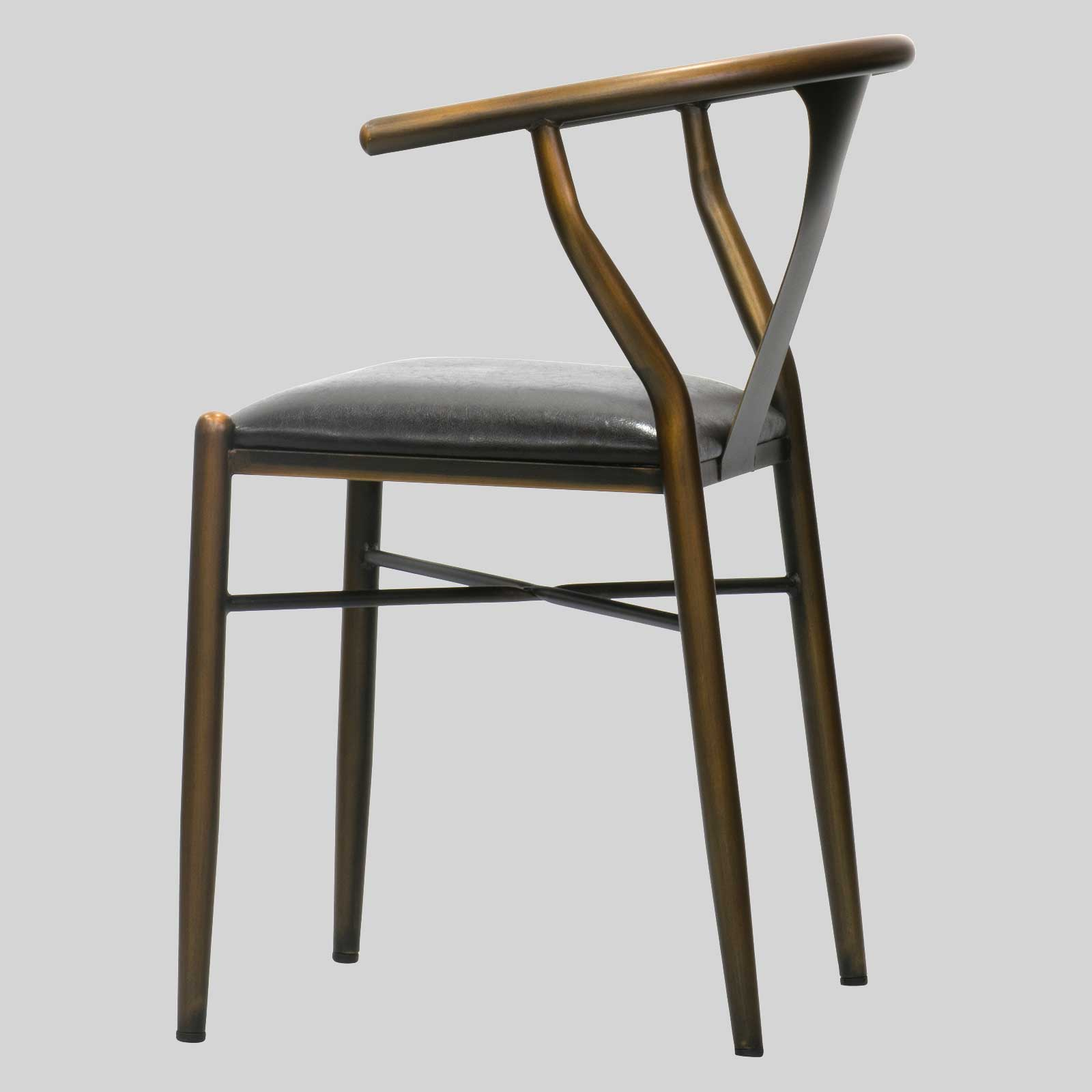Restaurant chair in distressed copper the Coleman Chair
