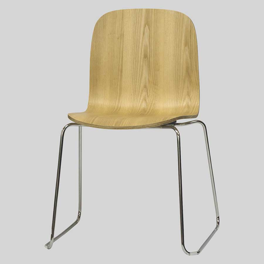 Felix Cafe Chairs - Natural, Chrome