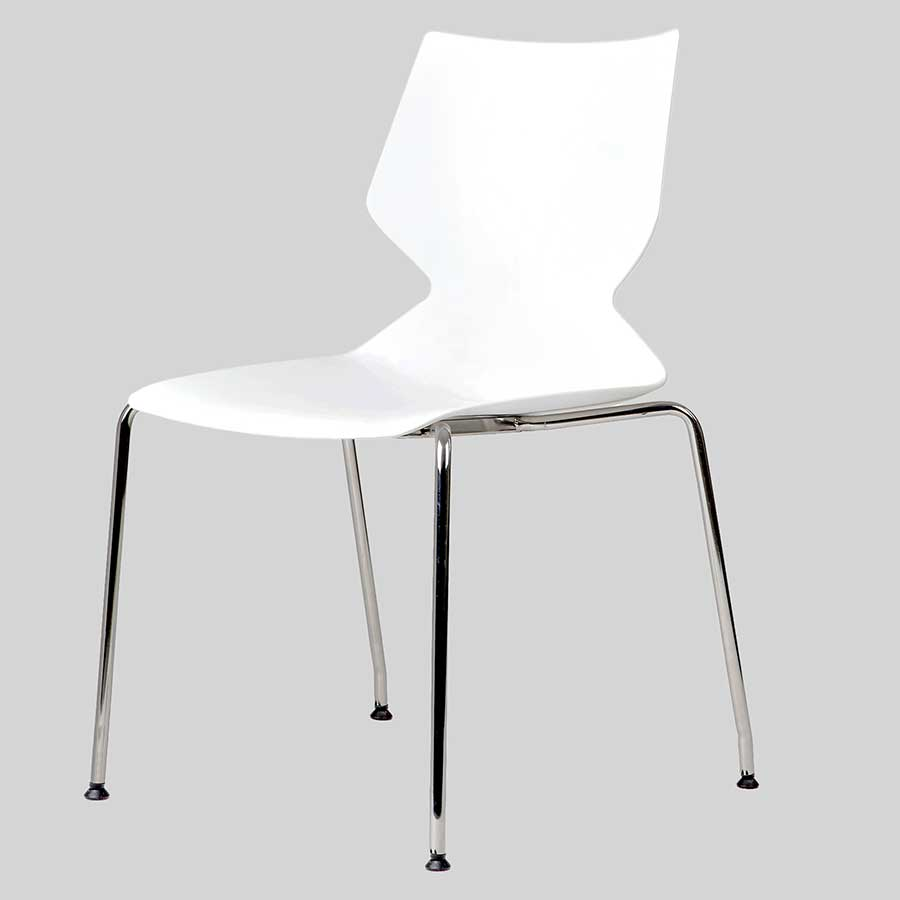 Fly Conference Chair - 4-Leg White