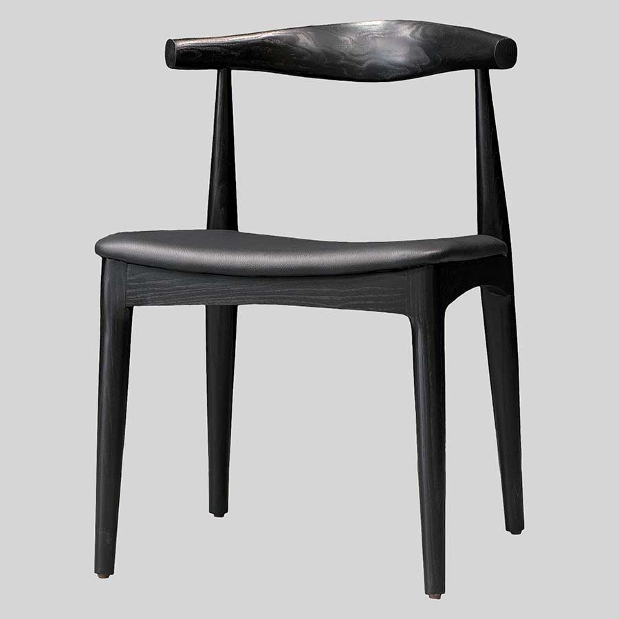 Hansel Reproduction Wegner Elbow Chair - Black