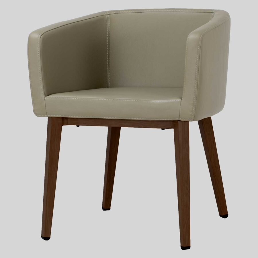 Madison Chair - Taupe Vinyl, Walnut Leg