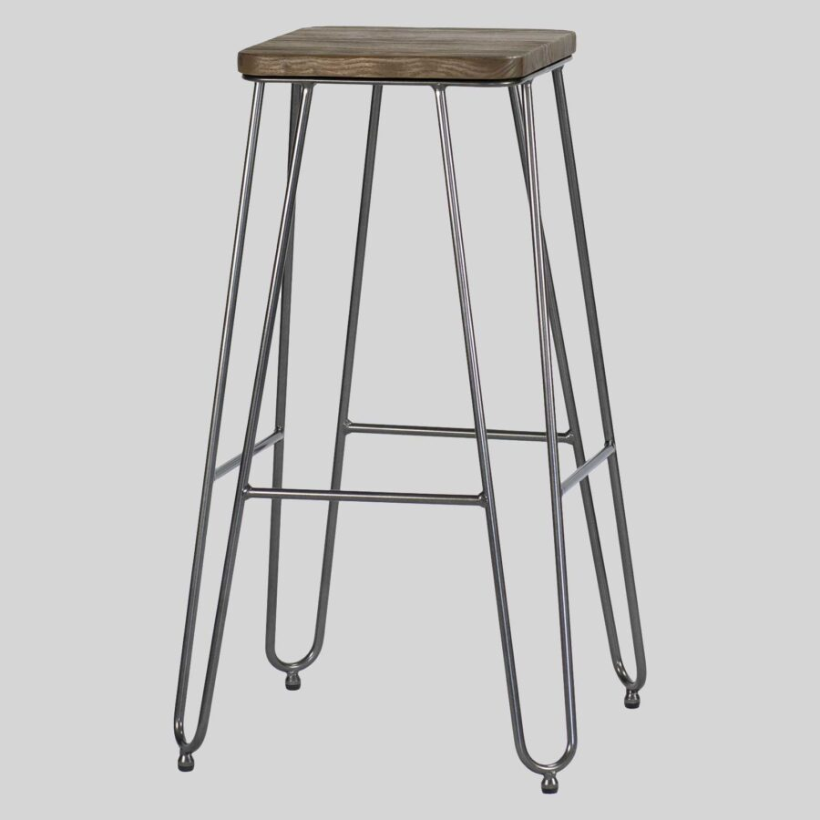 Manhattan Bar Stool - Charcoal Elm