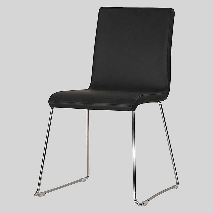 Sofia Upholstered Chairs - Black