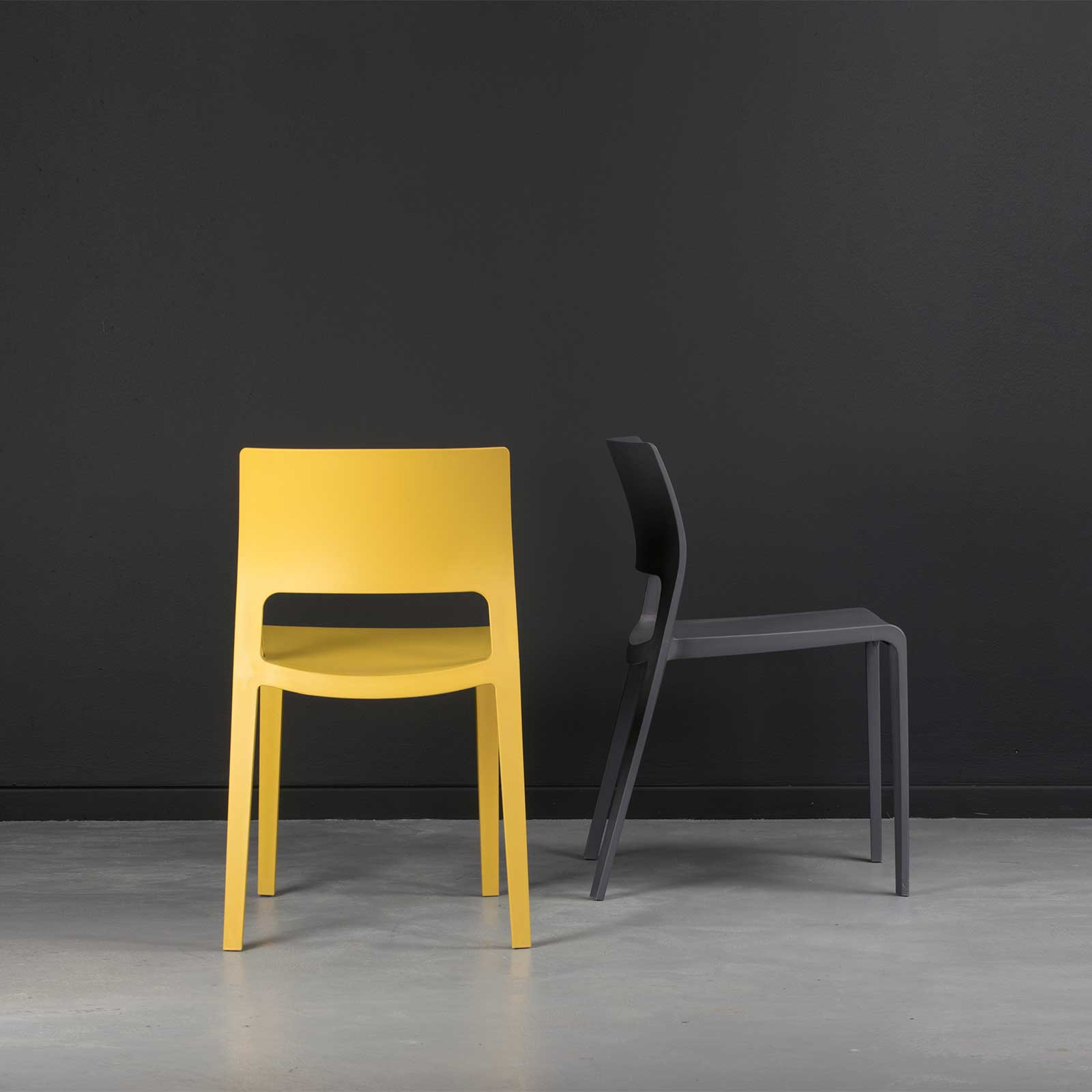 Sorrento Chair   Mustard And Anthracite