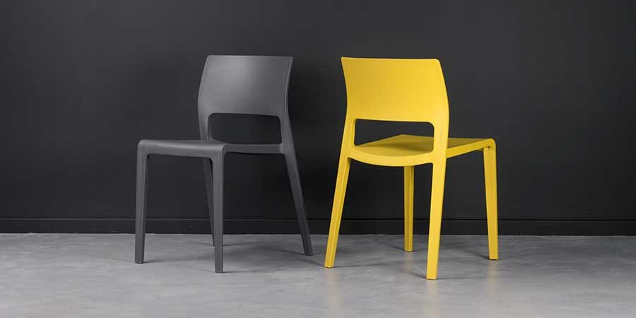 Sorrento Chair - Anthracite and Mustard