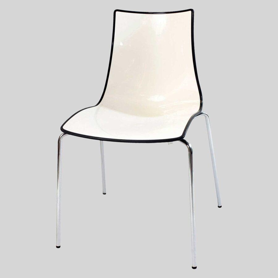 Zelda Duo italian chair - Anthracite