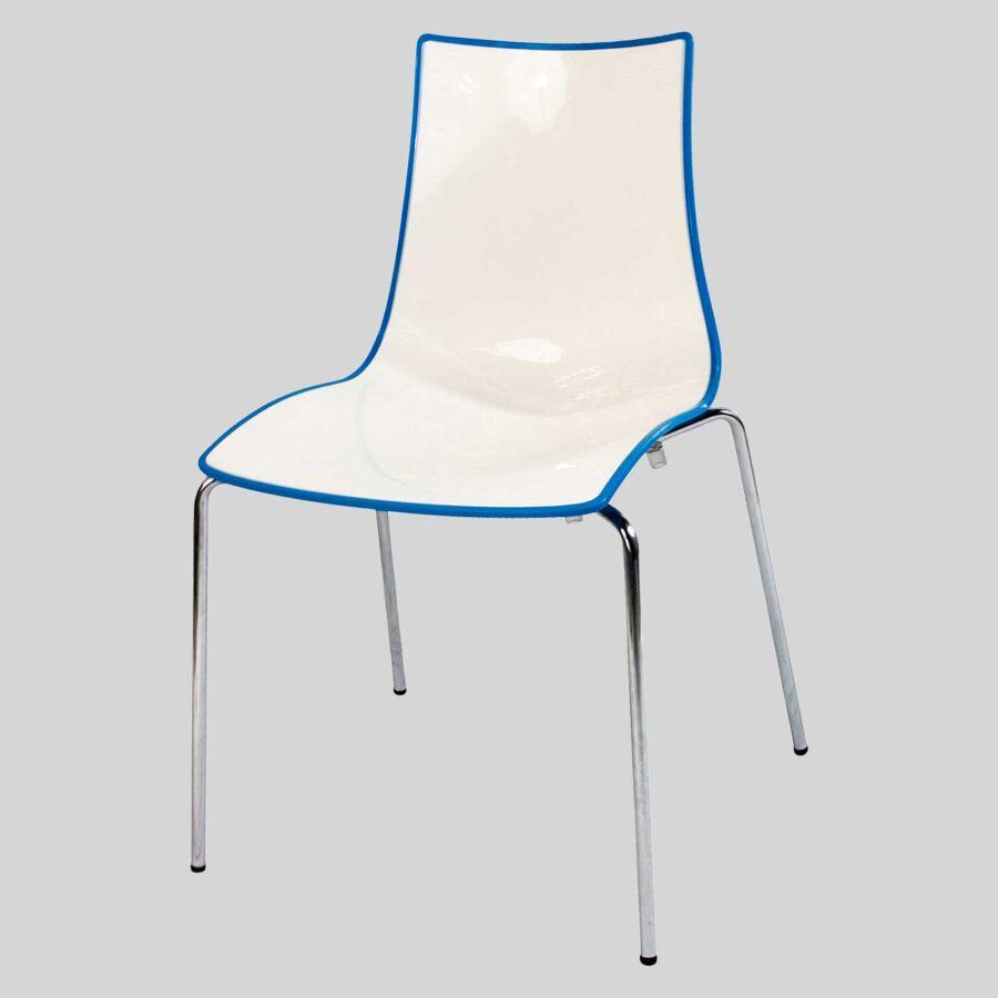 Zelda Duo italian chair - Blue