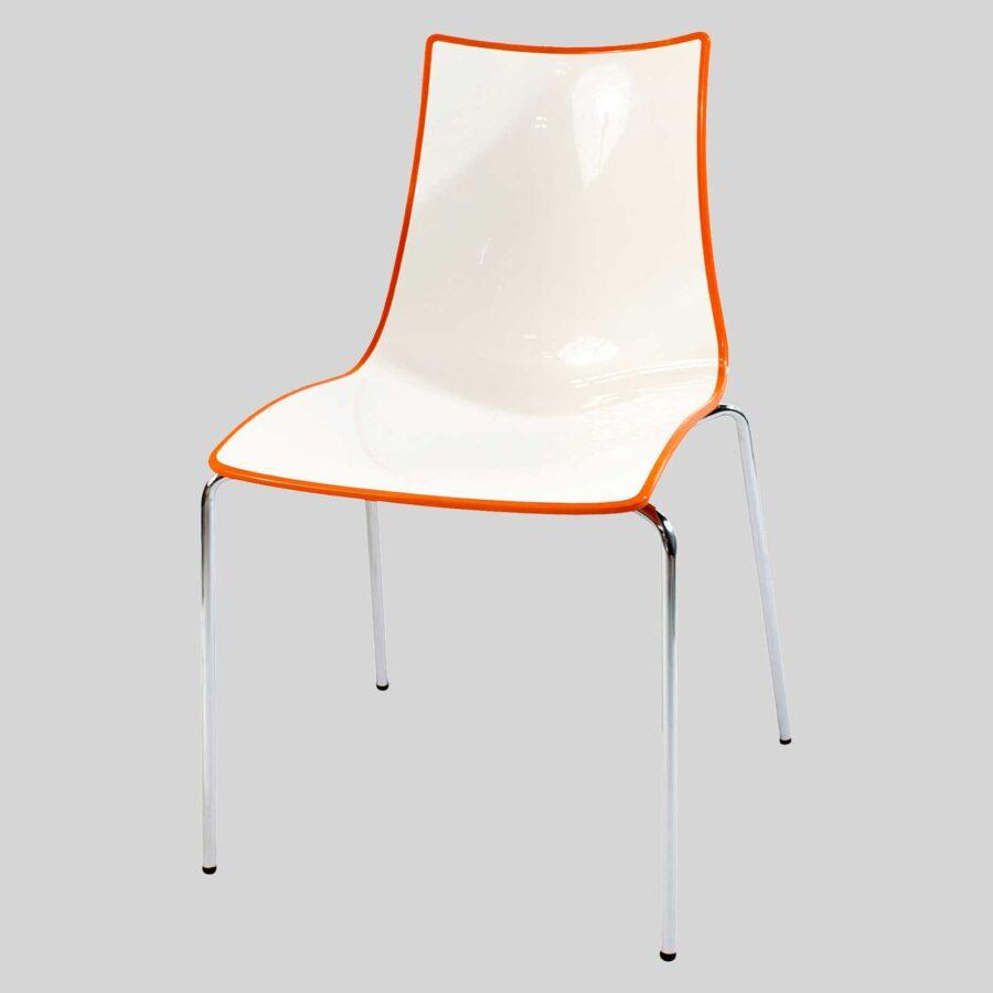 Zelda Duo italian chair - Orange