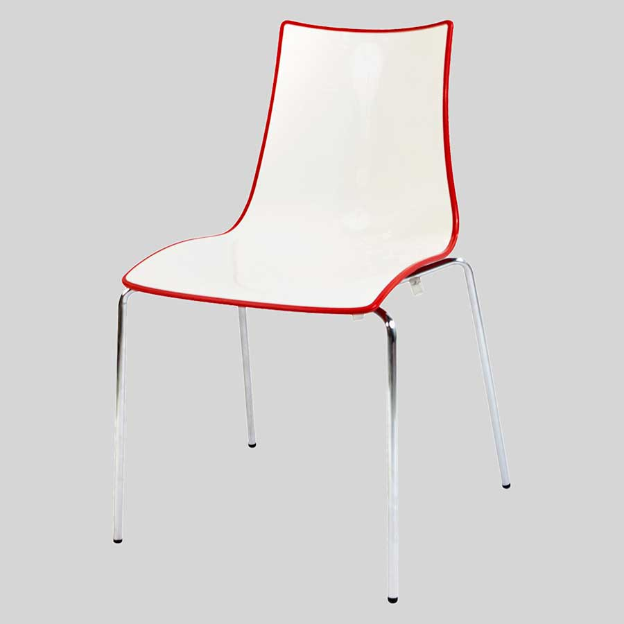 Zelda Duo italian chair - Red