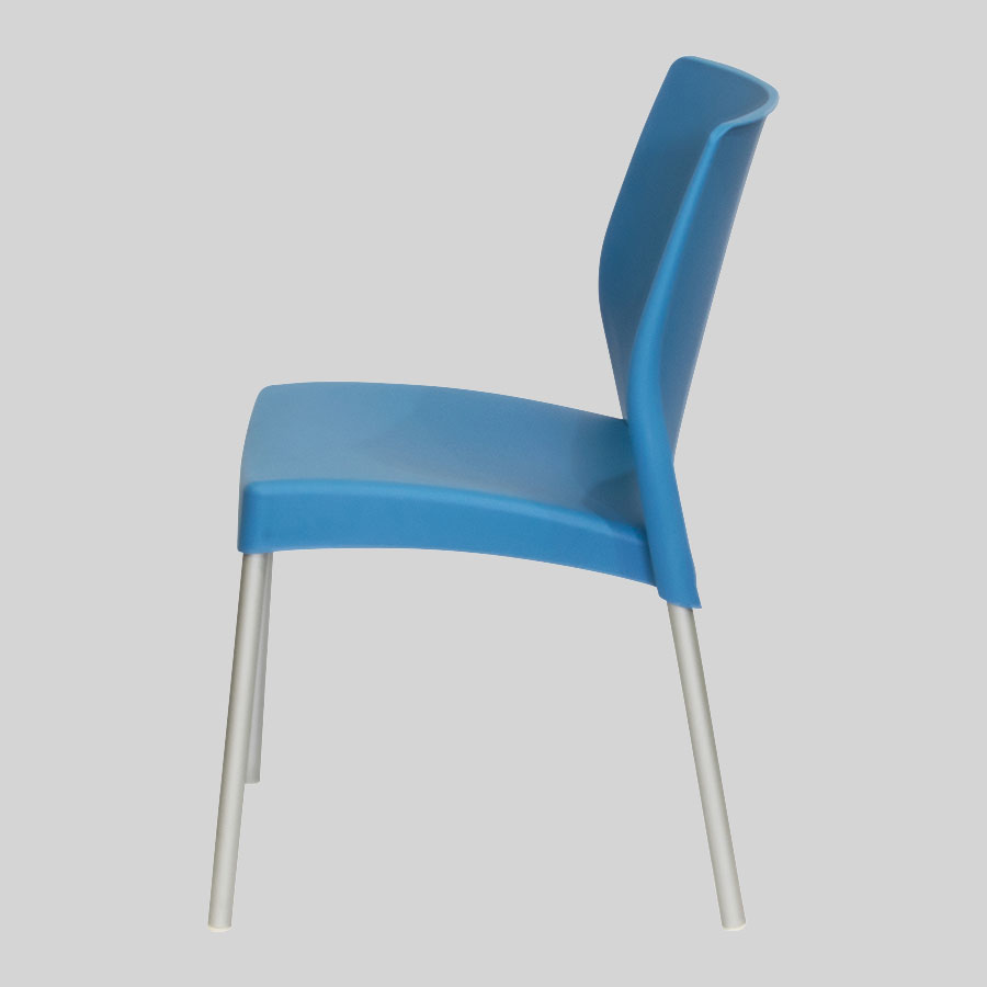 Apollo Australian Cafe Chairs - Blue - Side