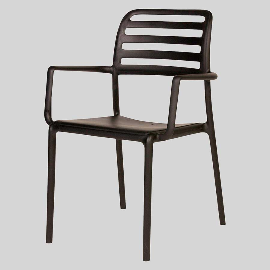 Bosca Outdoor Restaurant Chair  Black