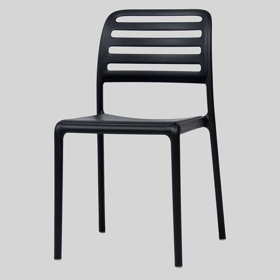 Outdoor cafe chairs - Bosca Outdoor Cafe Chairs Black