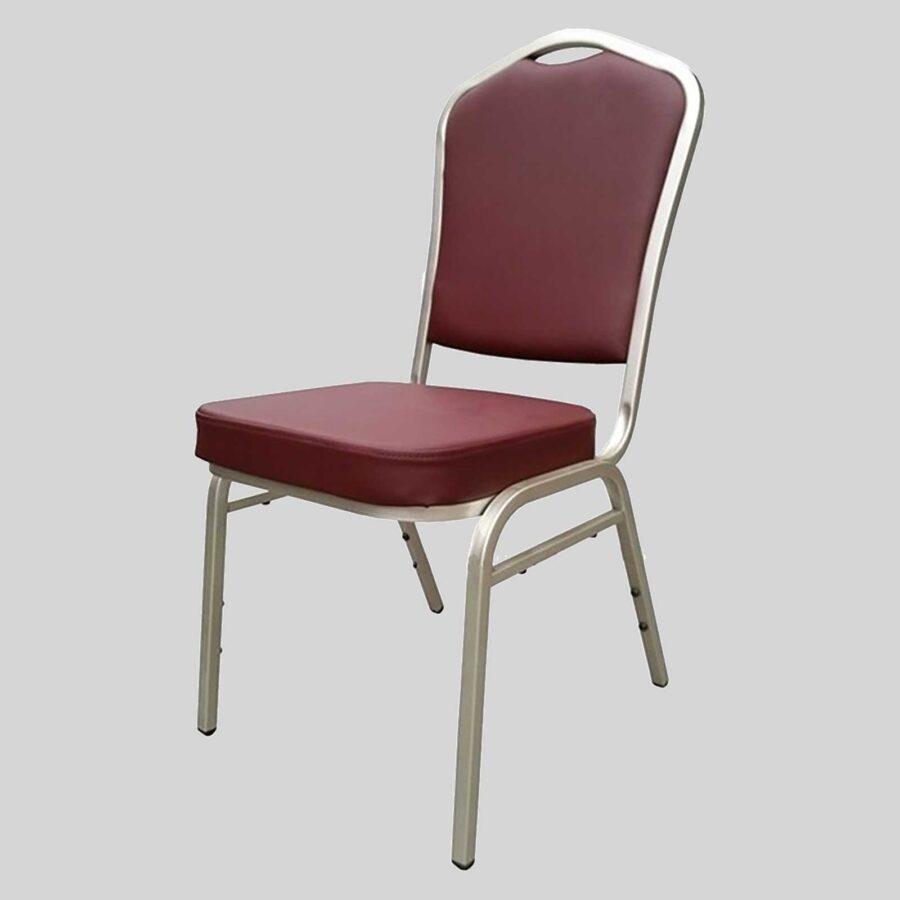 Bradman banquet chairs - Burgandy Vinyl