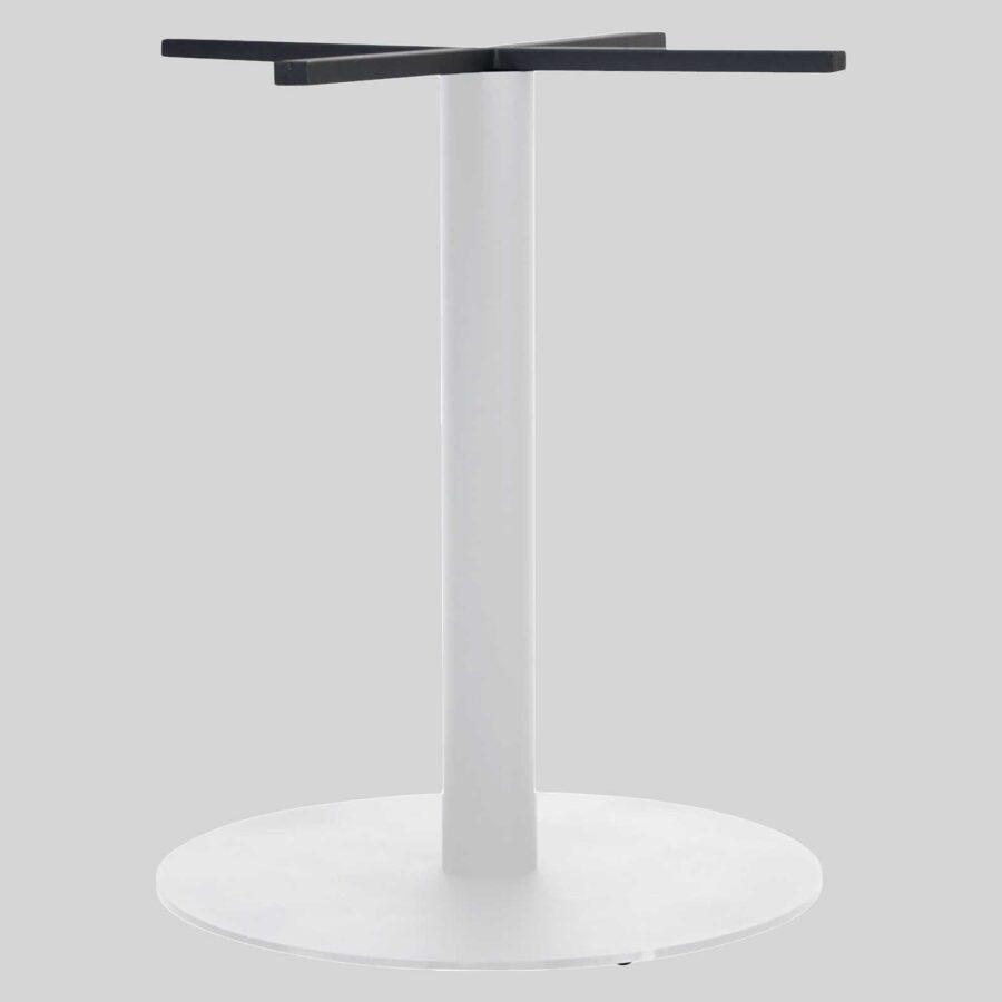 Carlton Round Commercial Table Base - White