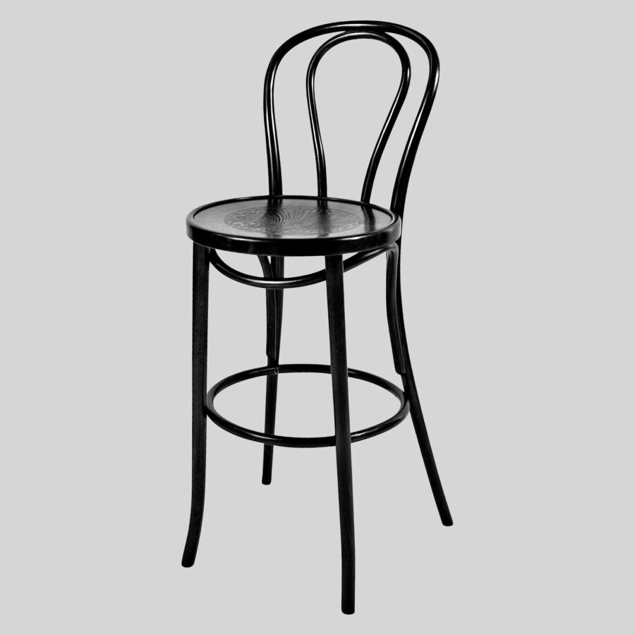 Classique Bentwood Barstool w/back - Black