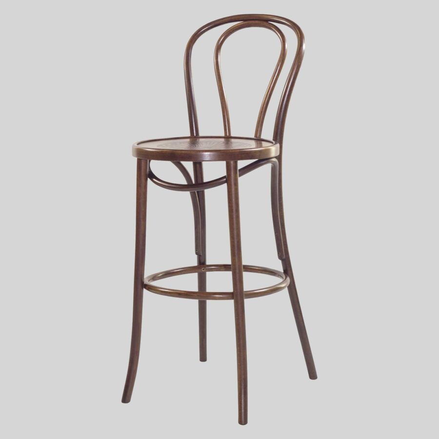 Classique Bentwood Barstool w/back - Walnut