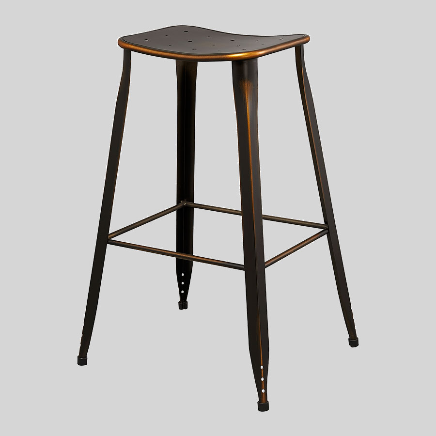 Coleman Vintage Barstools - Distressed Copper