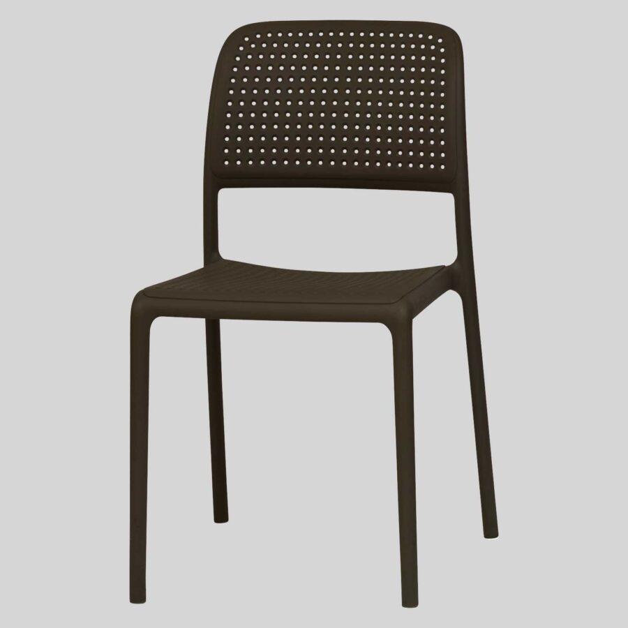 Dora Plastic Chairs - Chocolate