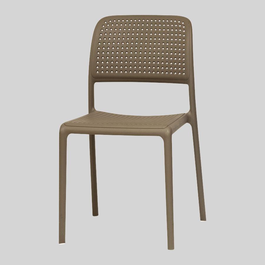 Dora Plastic Chairs - Taupe