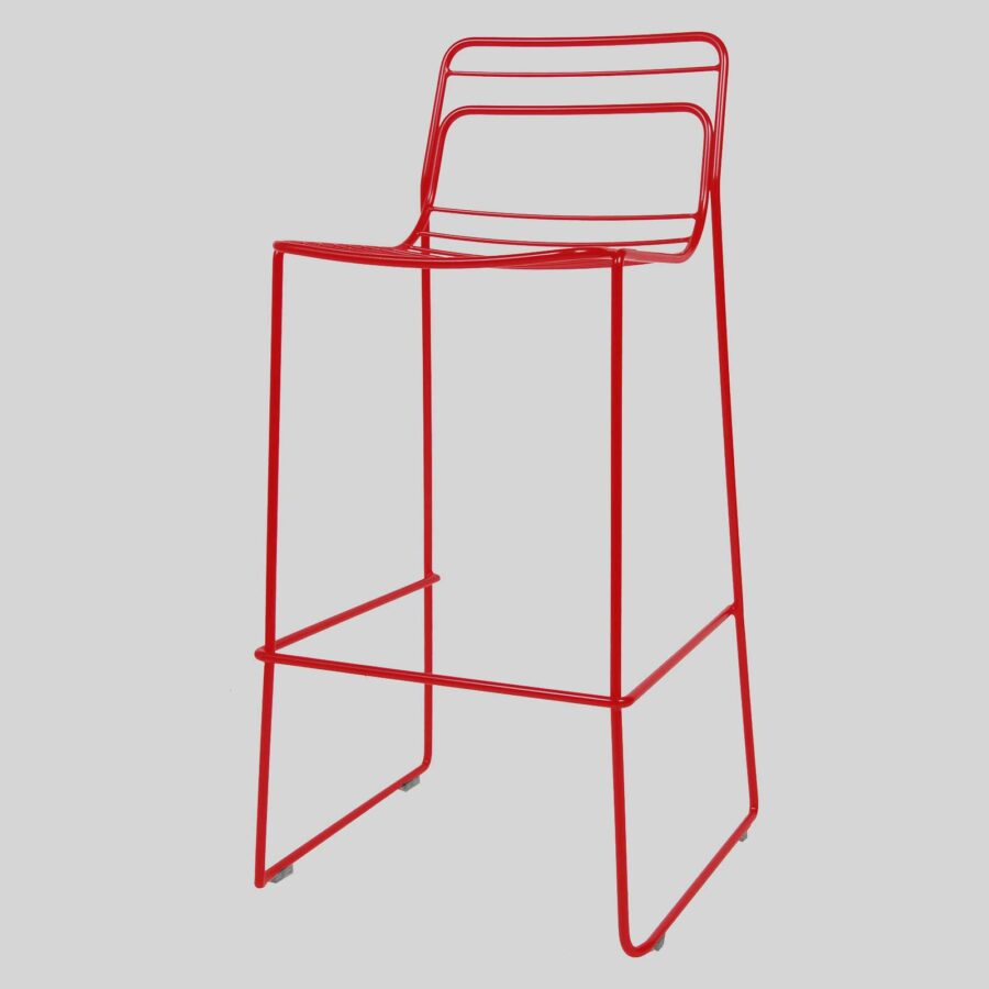 Gauge Bar Stool - Red