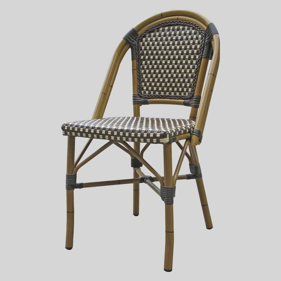 Jasmine French Dining Chairs - Brown/Cream