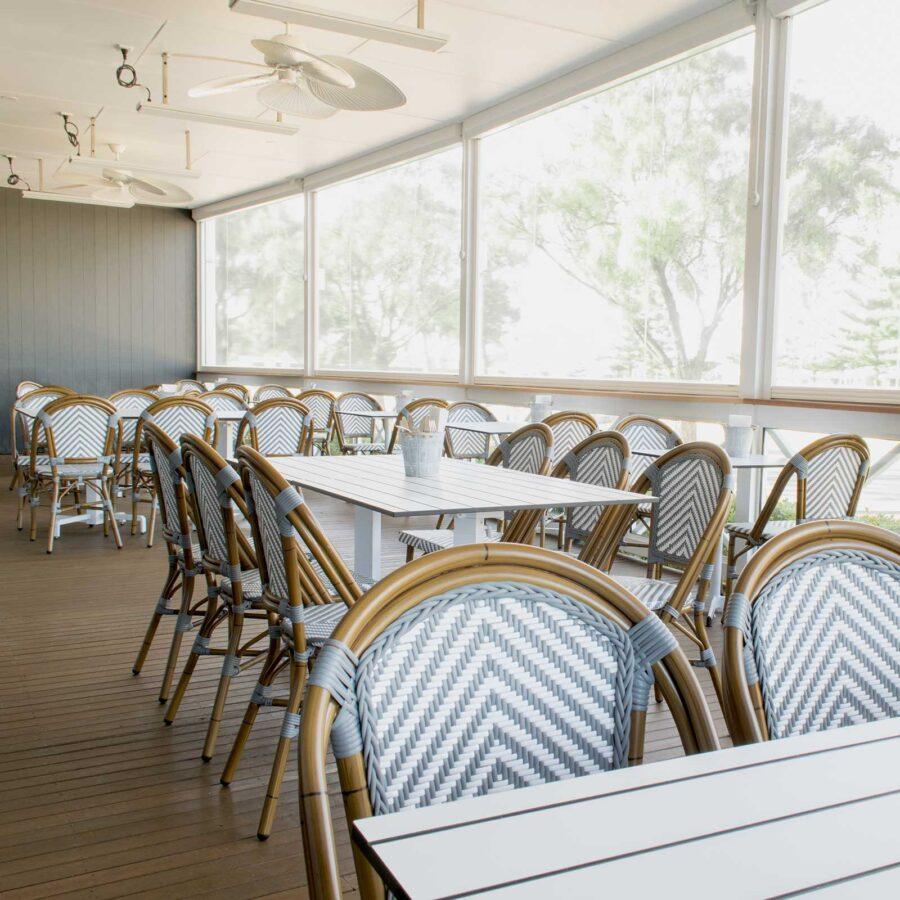 Jasmine French Dining Chairs - Grey/White Chevron