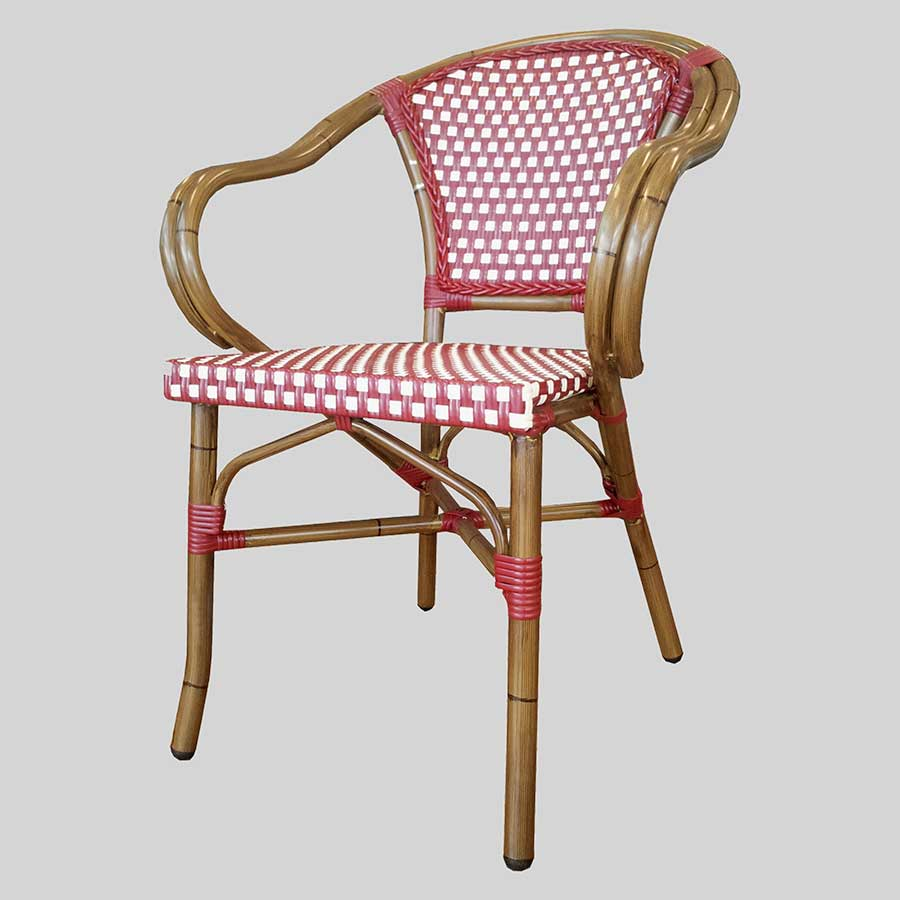 Jasmine French Restaurant Furniture - Red/Cream
