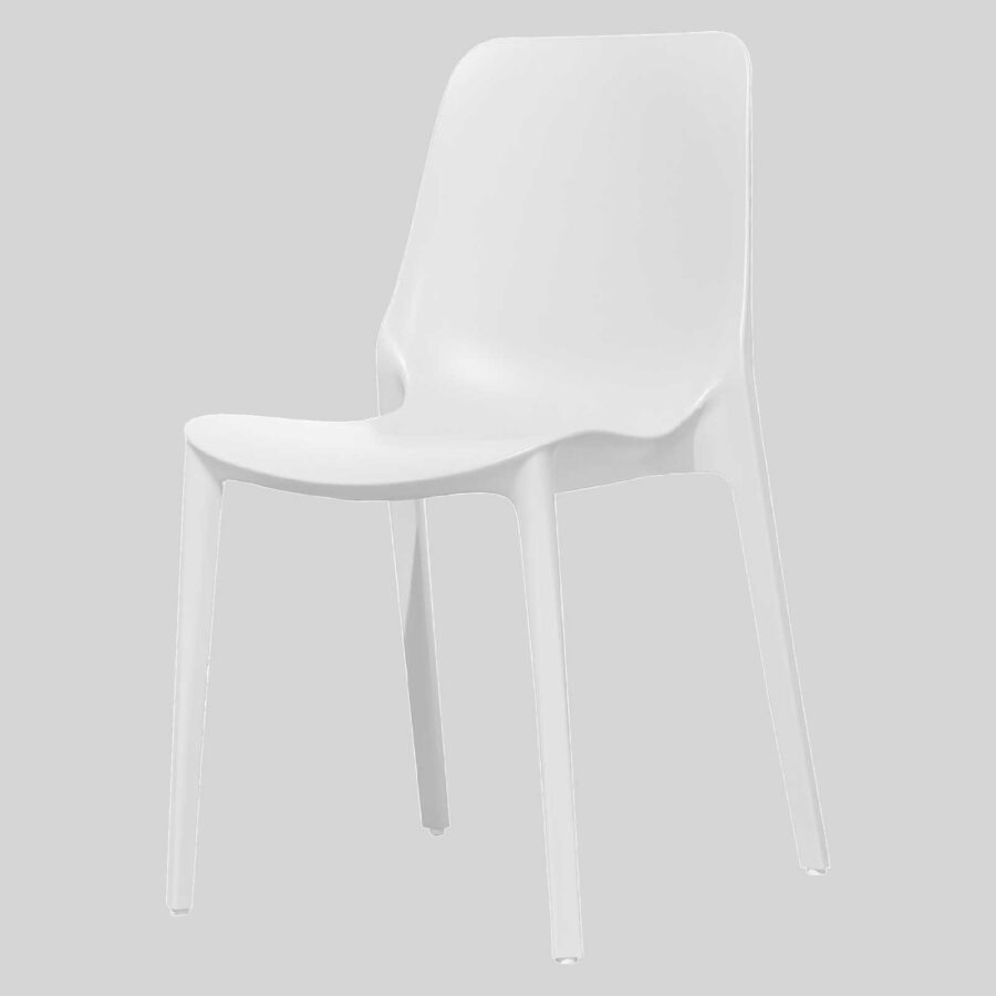 Jennifer cafe dining chairs - White