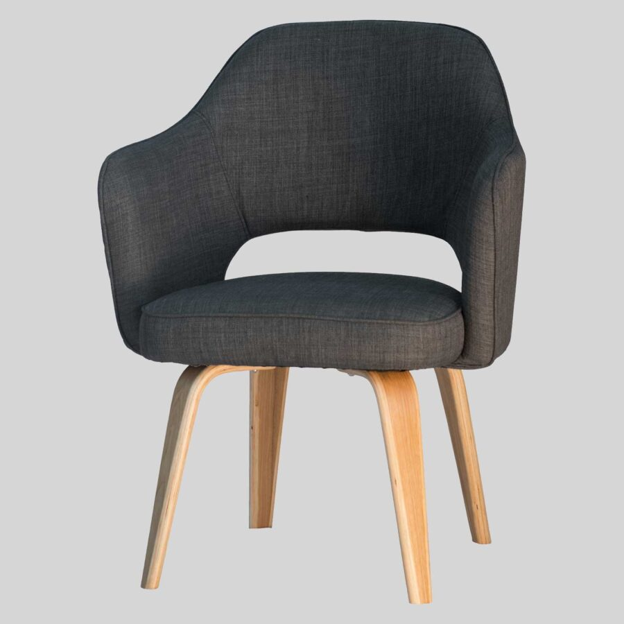 Kimba Tub Chair - Charcoal