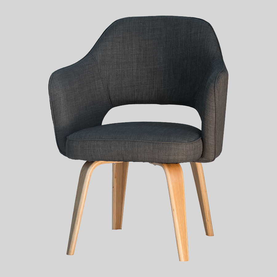 Kimba Tub Chairs - Charcoal