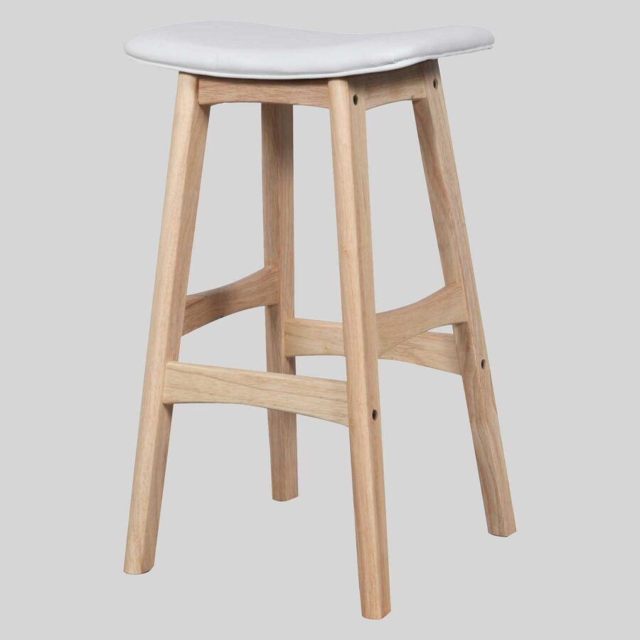 Magnum Counter Stool - Natural/White