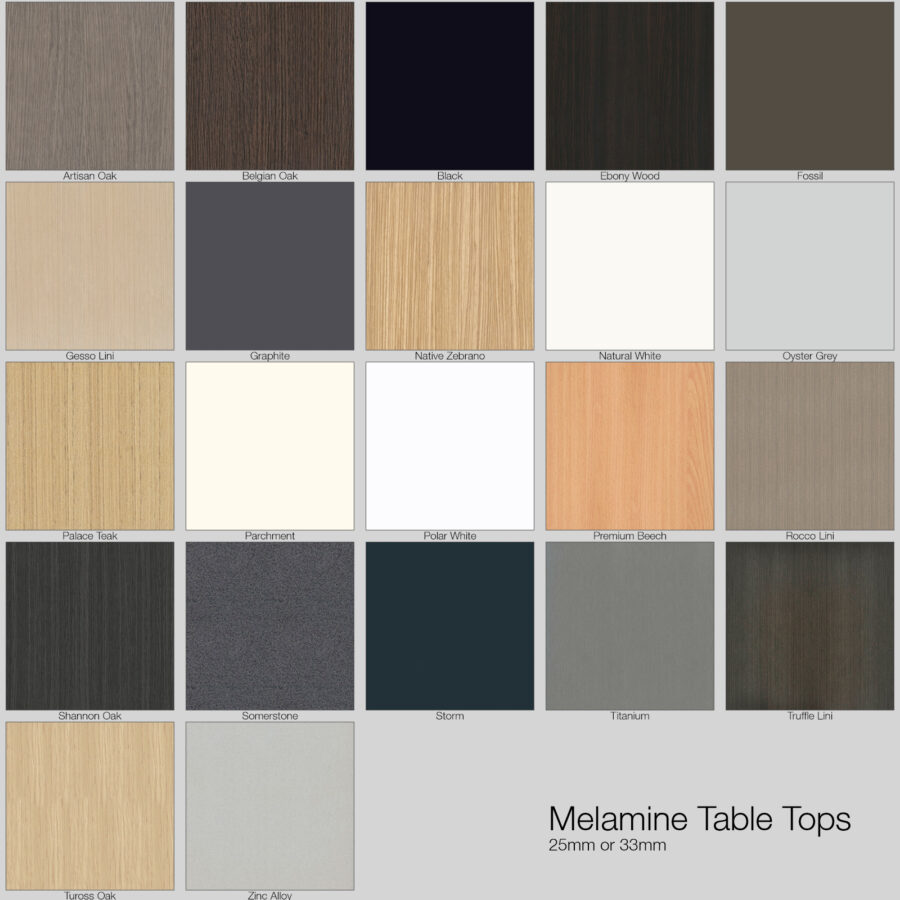 Melamine Restaurant Table Tops - Colour Options