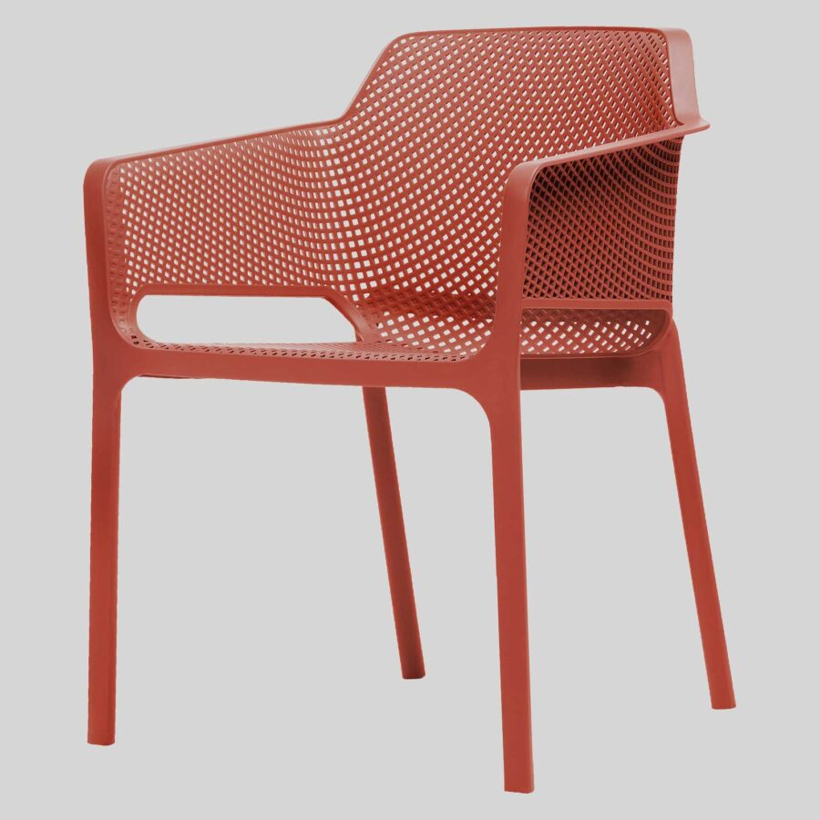 Mette Cafe Armchairs - Red