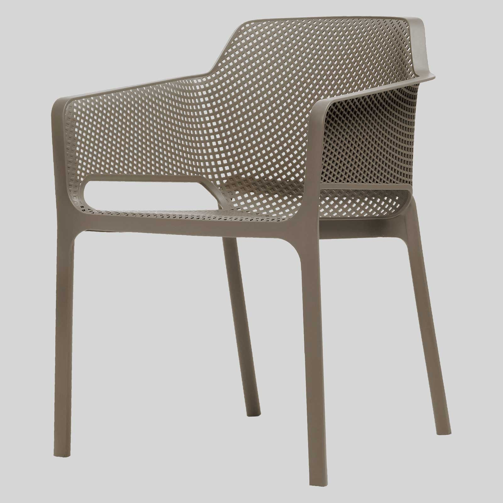 Mette Cafe Armchairs   Taupe