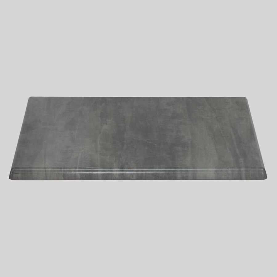 Moulded Resin Cafe Table Top - Cement - Square