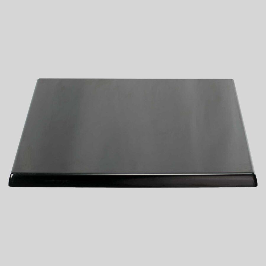 Moulded Resin Cafe Table Top - Black - Square