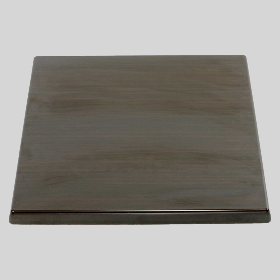 Moulded Resin Cafe Table Top - Dark Walnut - Square