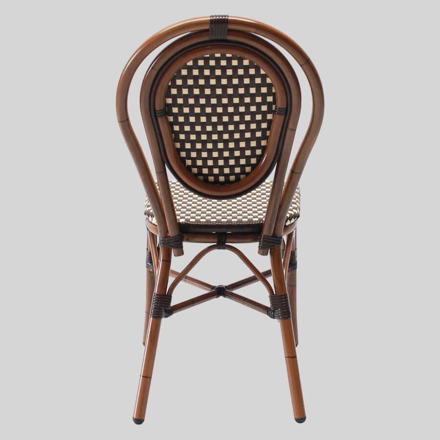 Palace French Cafe Chairs - Brown/Cream