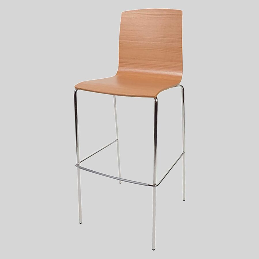 Palais Hospitality Barstool - Chrome/Natural