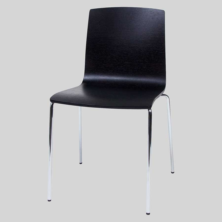 Palais Veneer Chair - Black