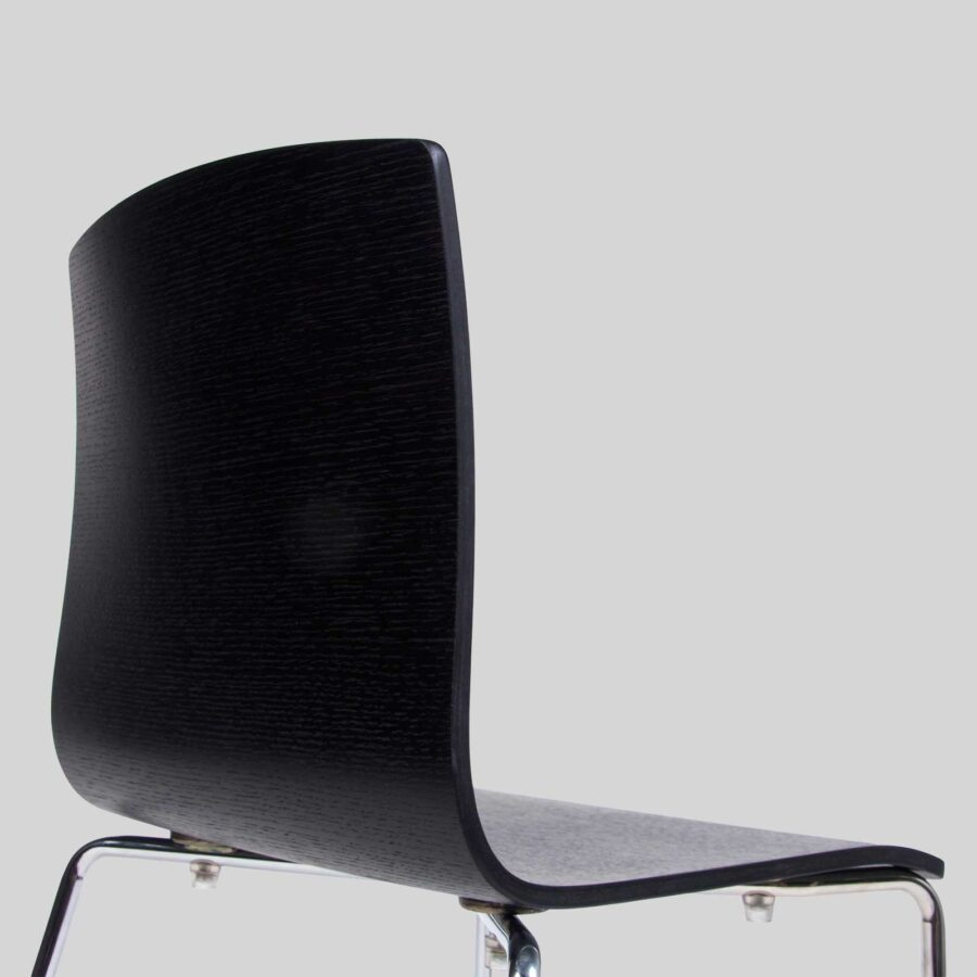 Palais Veneer Chair - Back - Black